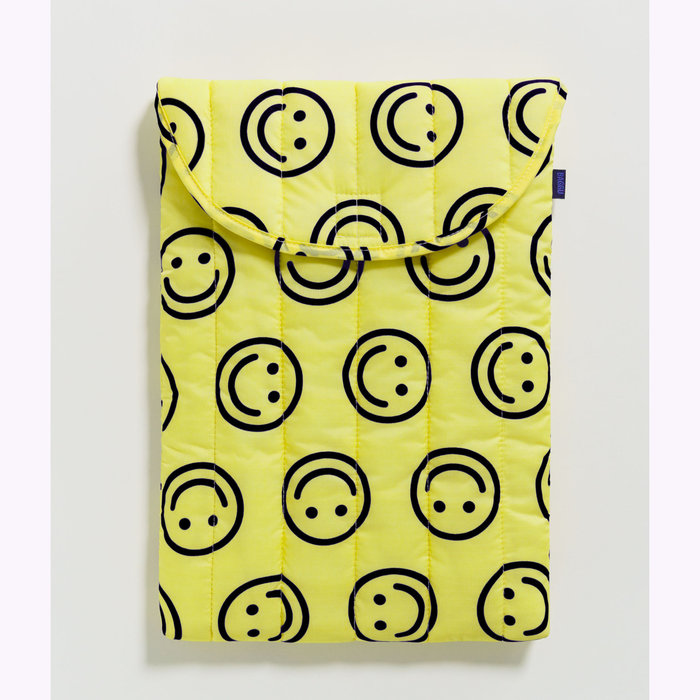 Baggu pochette Housse pour ordinateur Baggu Happy Yellow 16po