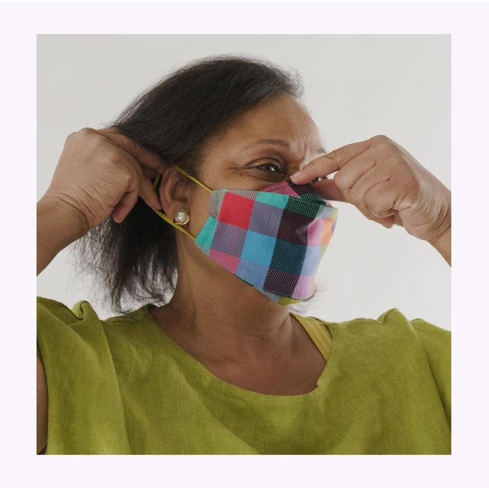 Baggu Madras Loop Face Mask