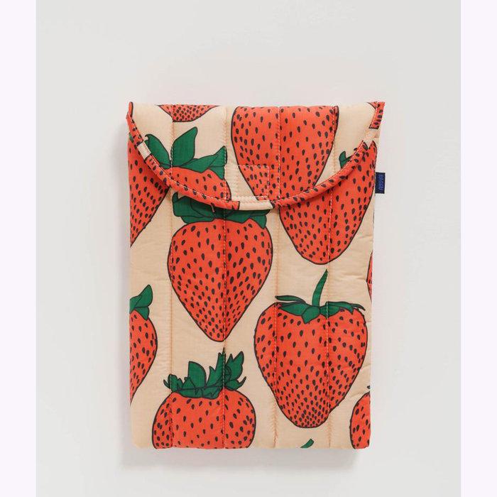 "Baggu pochette Baggu Strawberry Puffy Laptop Sleeve 13"""