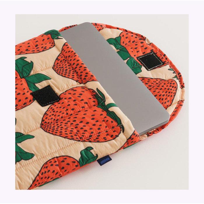 "Baggu Strawberry Puffy Laptop Sleeve 13"""