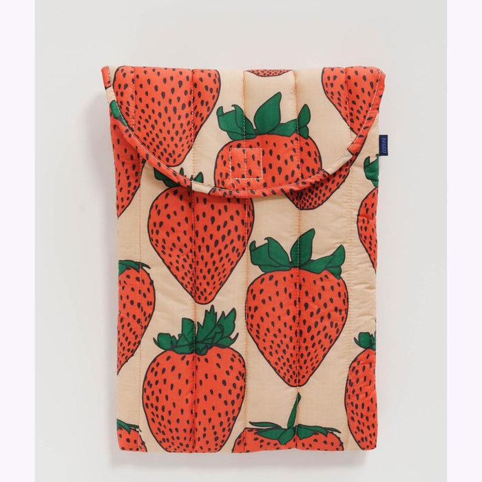 "Baggu pochette Baggu Strawberry Puffy Laptop Sleeve 16"""