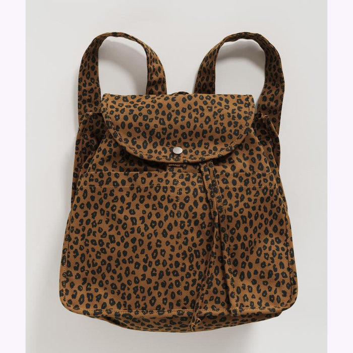 Baggu sac à dos Baggu Nutmeg Leopard Drawstring Backpack