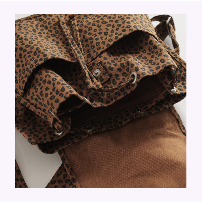 Baggu Nutmeg Leopard Drawstring Backpack