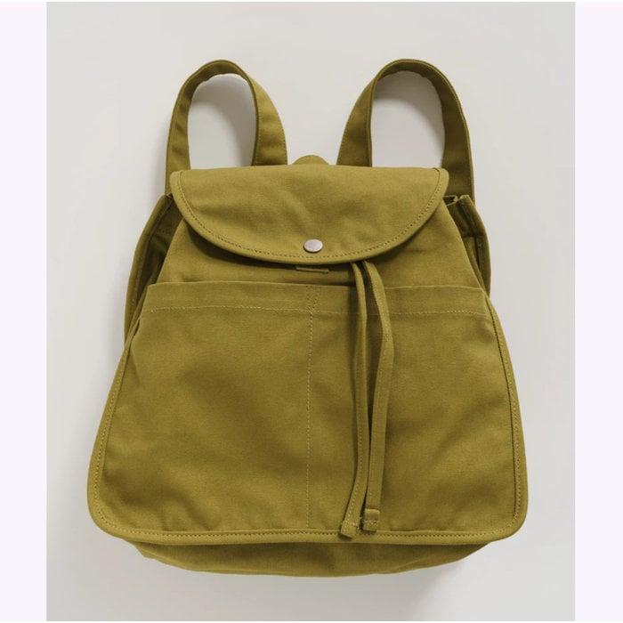 Baggu Olive Drawstring Backpack