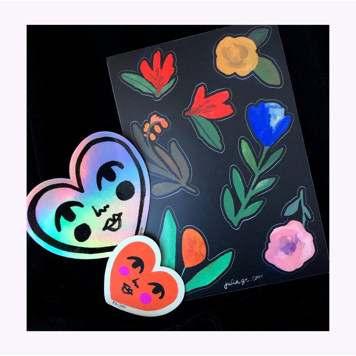 Julia GR Red Sweetheart Sticker