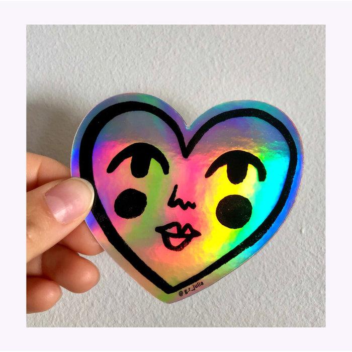 Julia GR Holo Sweetheart Sticker