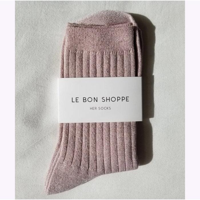 Chaussettes Le Bon Shoppe Lurex Rose