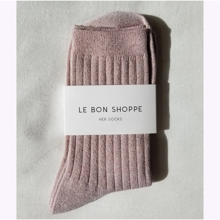 Le Bon Shoppe Rose Glitter Lurex Socks
