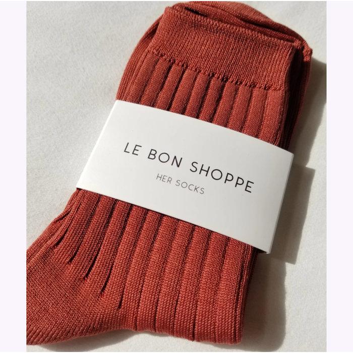 Le Bon Shoppe Terracotta Her Socks