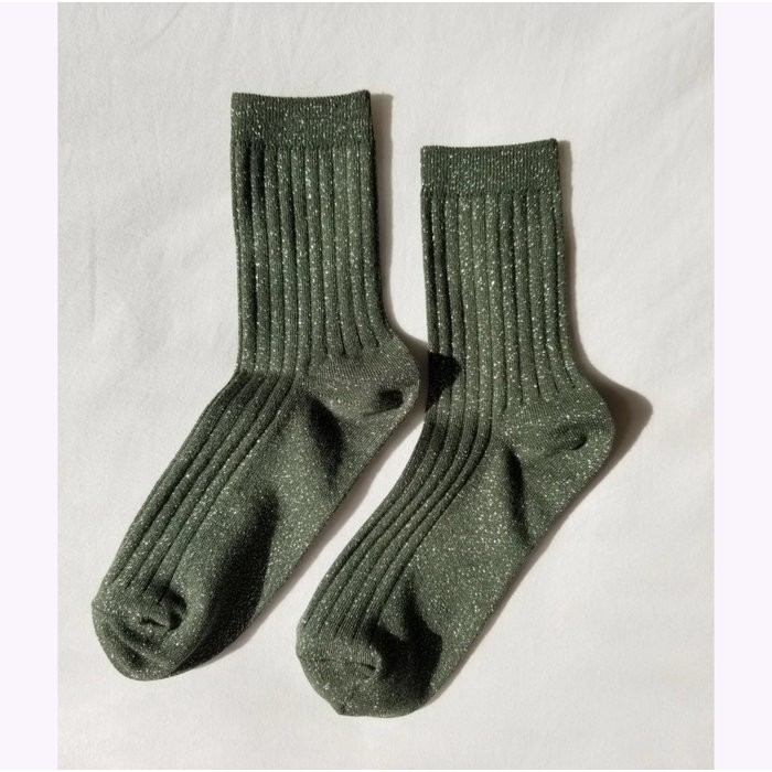 Le Bon Shoppe Pine Glitter Lurex Socks