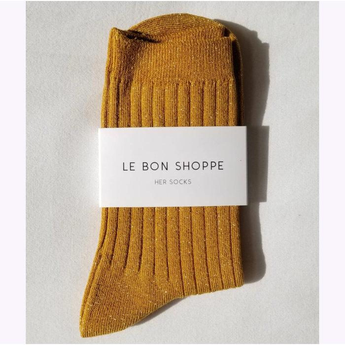 Chaussettes Lurex Le Bon Shoppe Moutarde