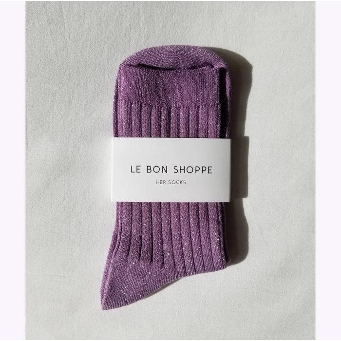 Le Bon Shoppe Lilac Glitter Lurex Socks