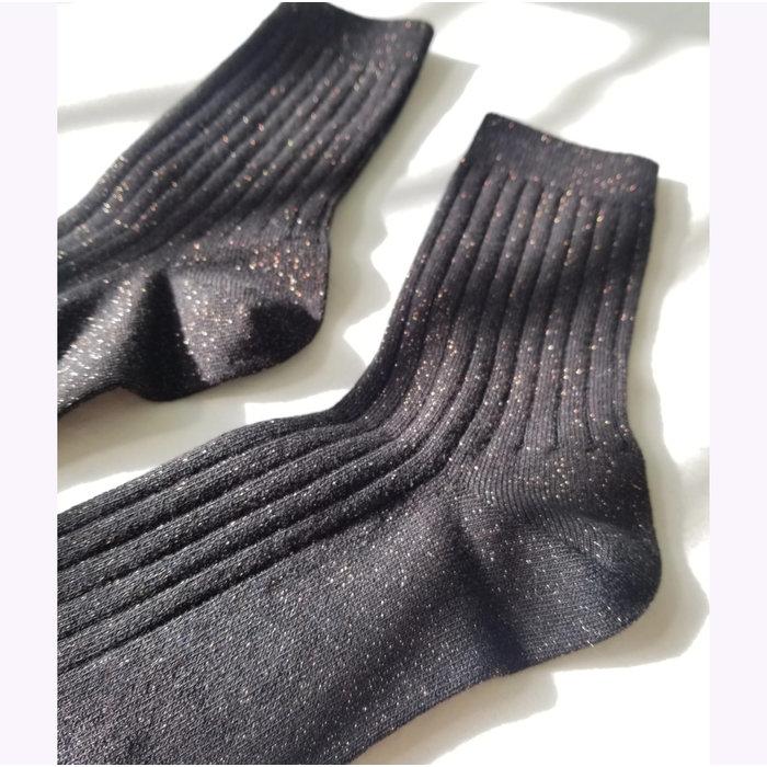 Chaussettes Lurex Le Bon Shoppe Noir Cuivré