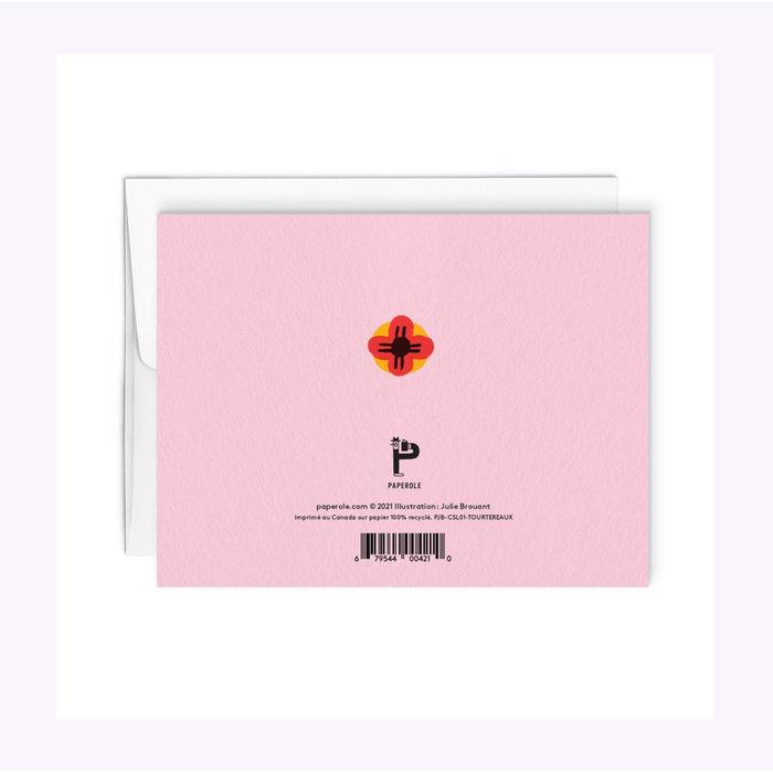 Carte Tourtereaux Paperole