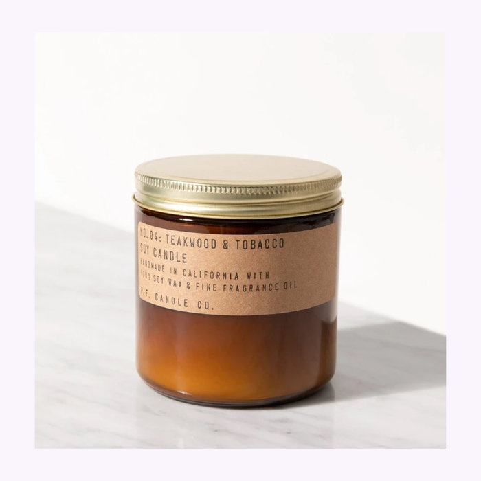 PF Candle co Bougie Pf  Candle Co. Teakwood & Tobacco Large