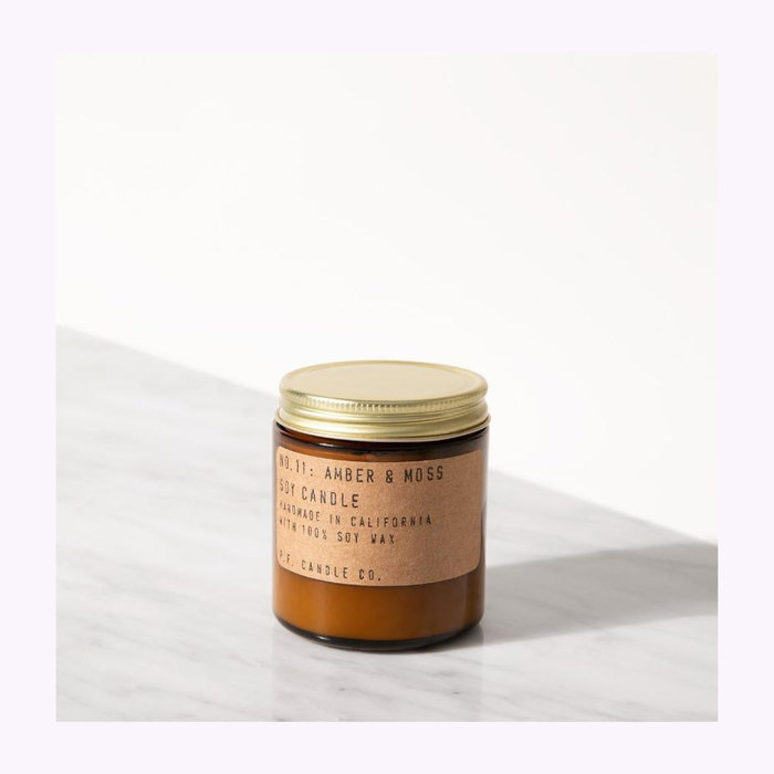 PF Candle co Bougie Pf Candle Co. Amber & Moss Mini