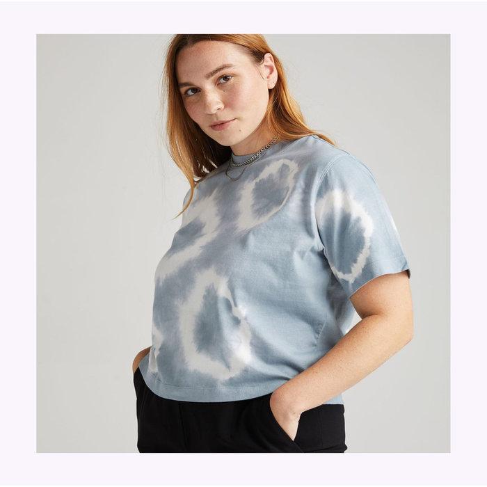 Crop top Richer Poorer Bleu Mirage Tie Dye