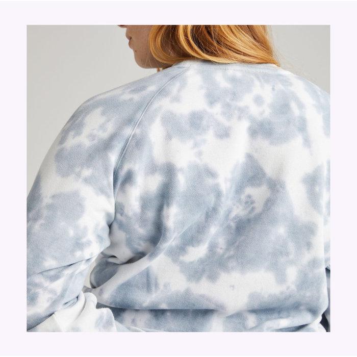 Crewneck Richer Poorer Bleu Mirage Tie Dye