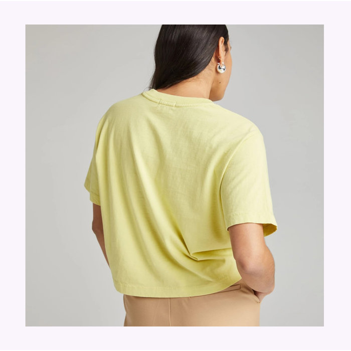 Richer Poorer Pale Green Relaxed Crop Tee