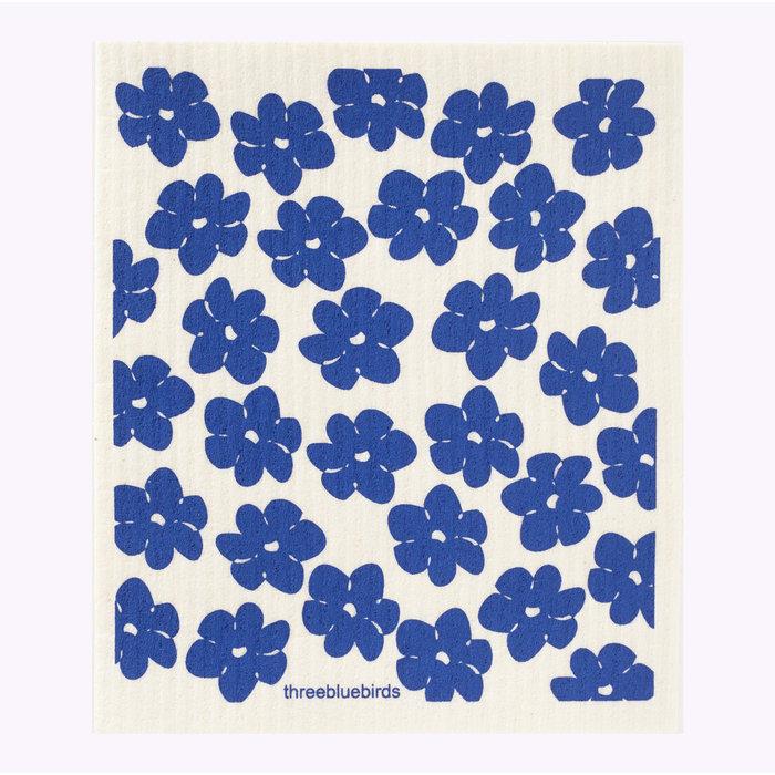Lavette Poppies bleu Three Bluebirds