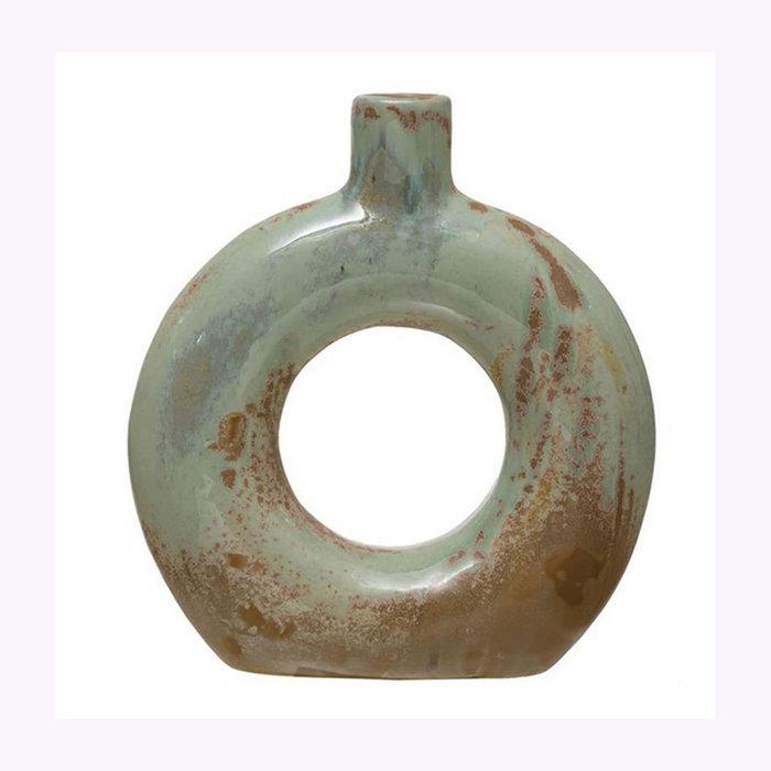 "Creative Coop Creative Coop 5.5"" Cutout Opal Vase"