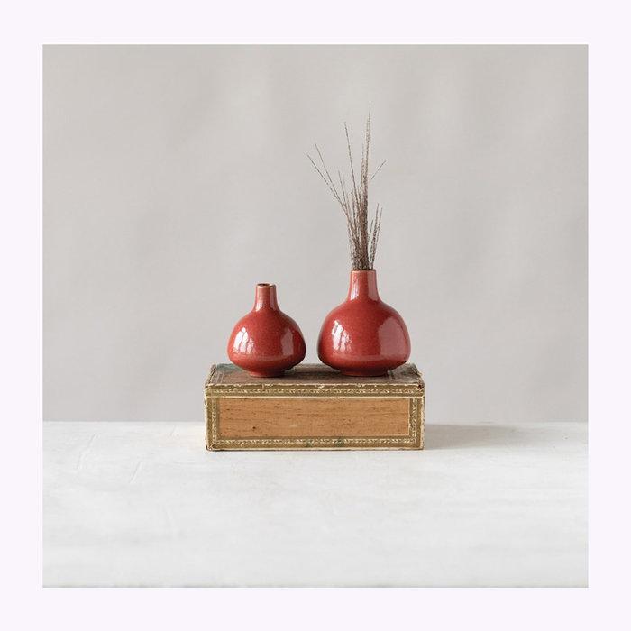 """Creative Coop Creative Coop 4"""" Persimmon Vase"""
