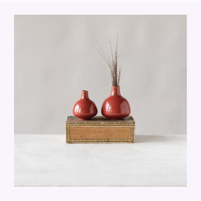 "Vase Rouge 4"" Creative Coop"
