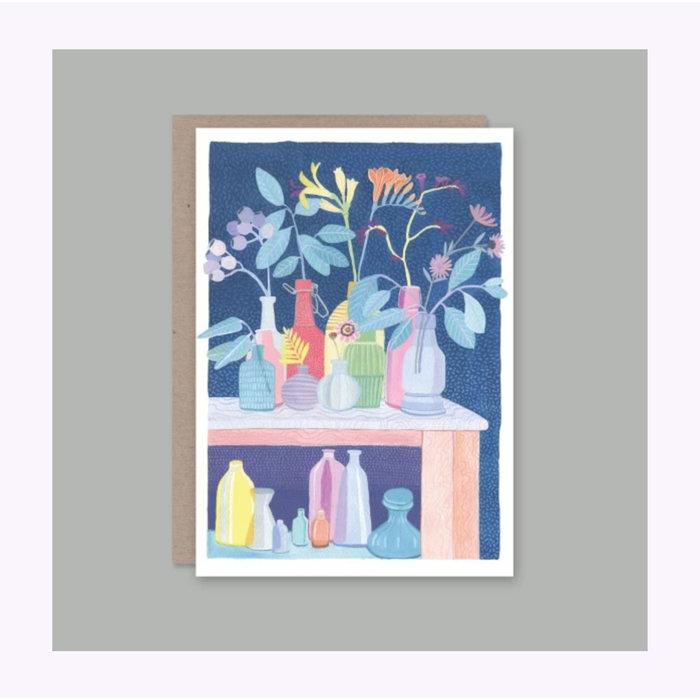 Carte Vase de Fleurs AHD Paper Co.