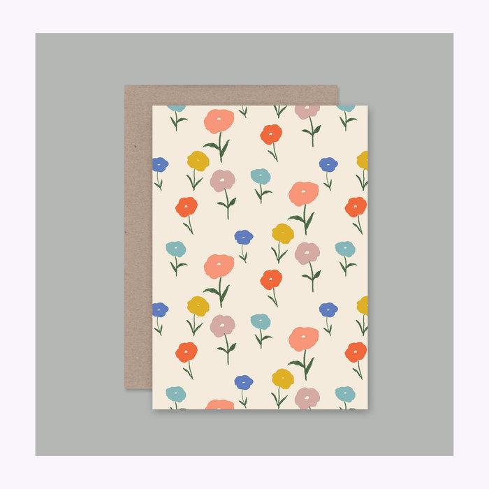 AHD Paper co AHD Paper Co. Floral Card