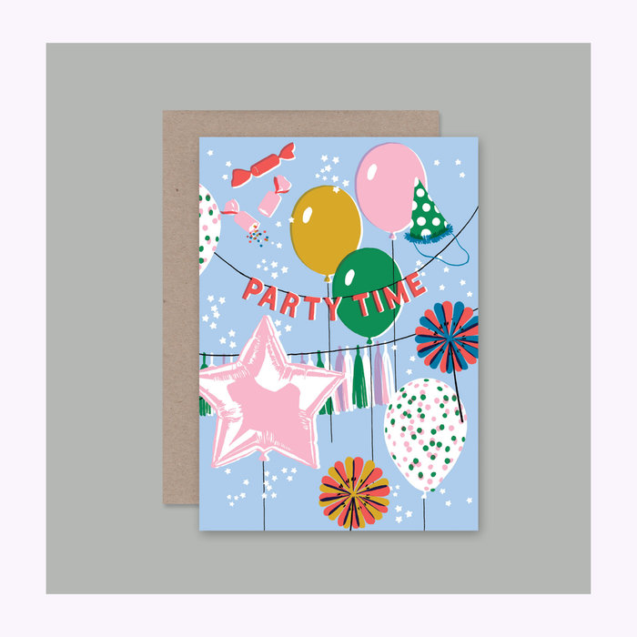 AHD Paper co AHD Paper Co. Party Time Card