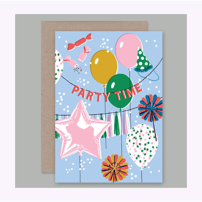 AHD Paper Co. Party Time Card