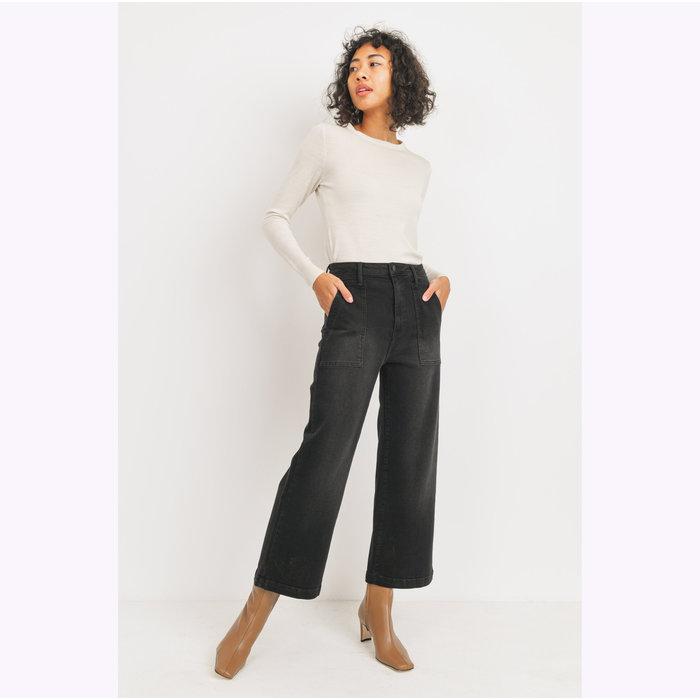 Jeans Jambe Large Noir JBD