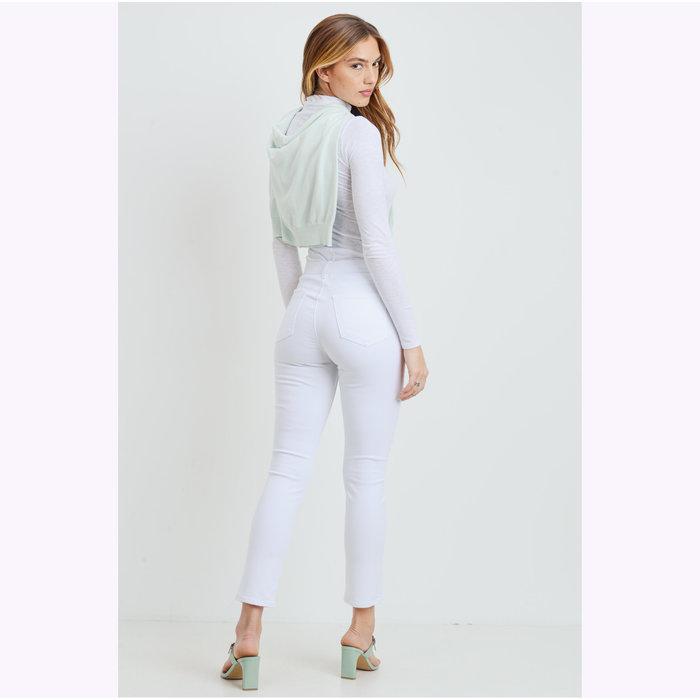Jeans Droit Blanc Cassé JBD