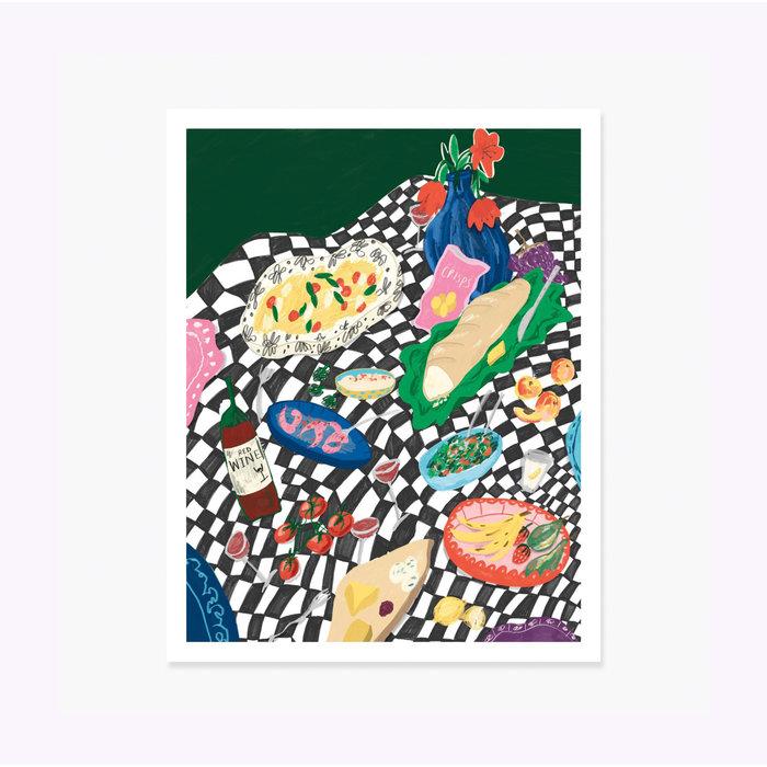 Affiche Bouje Picnic 11 x 14 Slow Down Studio