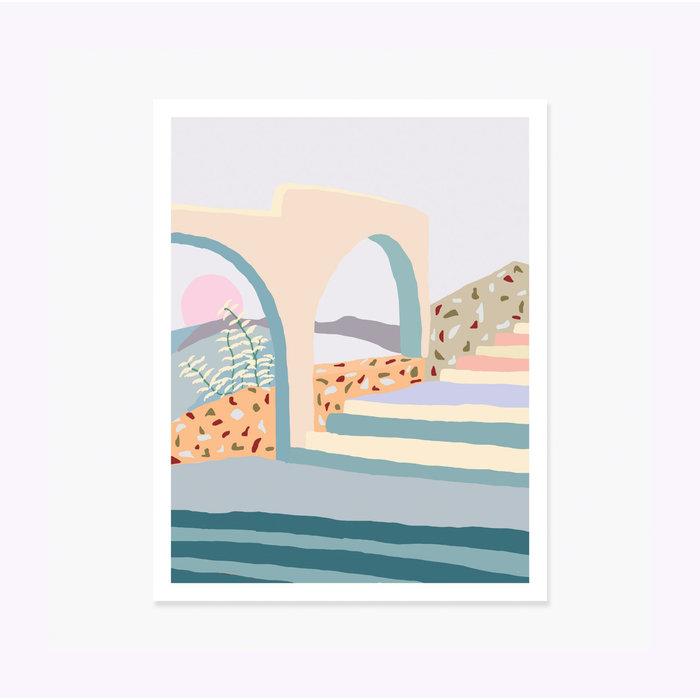 Affiche Terrazzo Stairs 11 x 14 Slow Down Studio