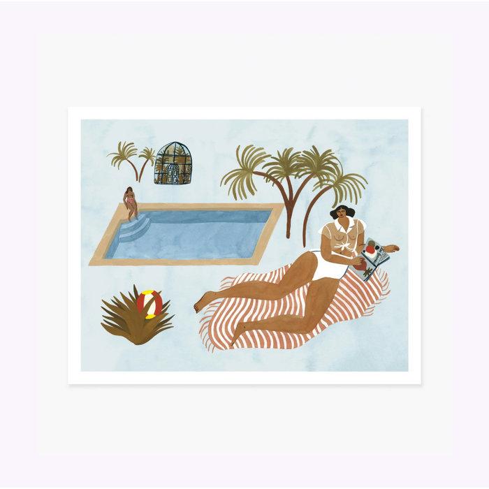 Affiche Far Off Poolside 11 x 14 Slow Down Studio