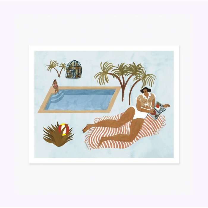 Slow Down Studio Far Off Poolside 11 x 14 Print