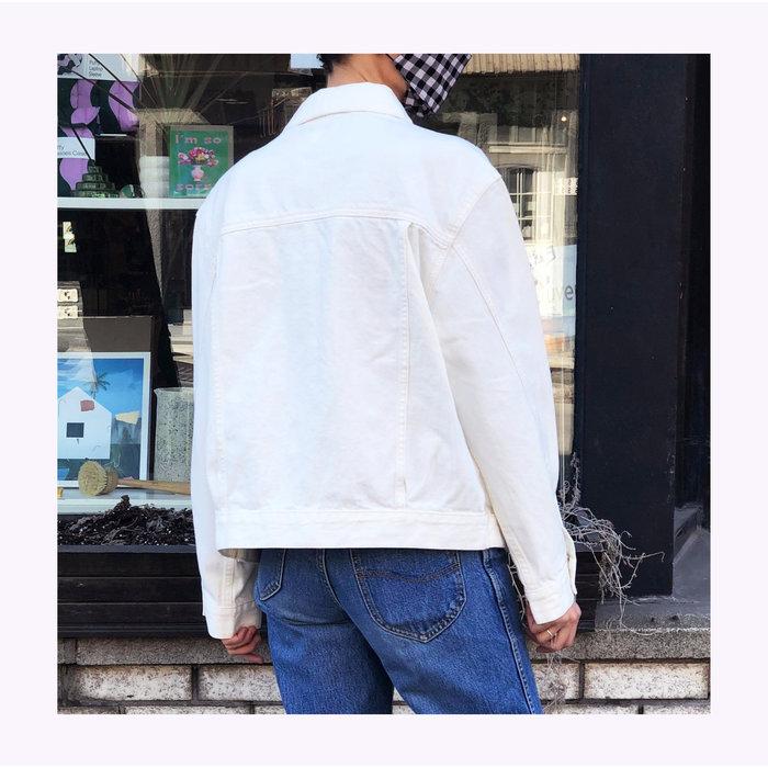 JBD Off White 90's Fit Jean Jacket