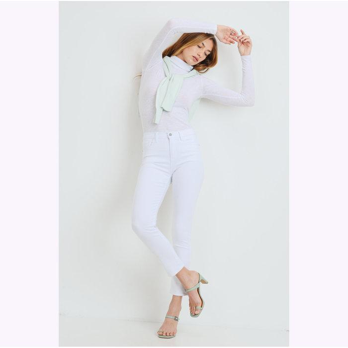 JBD White Straight Leg Jeans