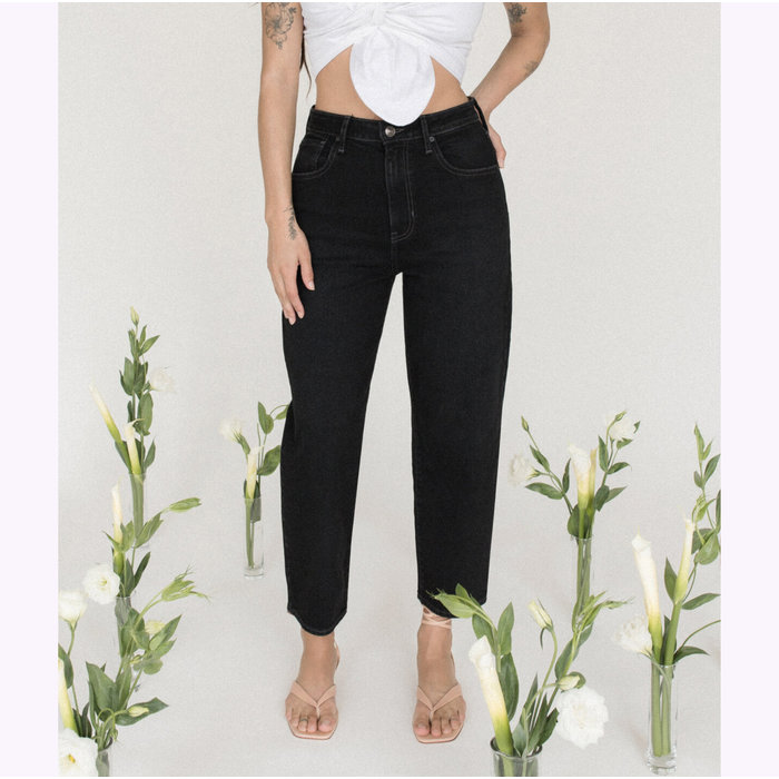 JBD Washed Black Barrel Straight Leg Jeans
