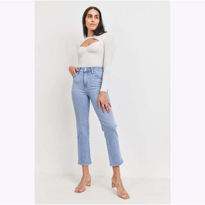 JBD Light Denim Double Button Straight Jeans