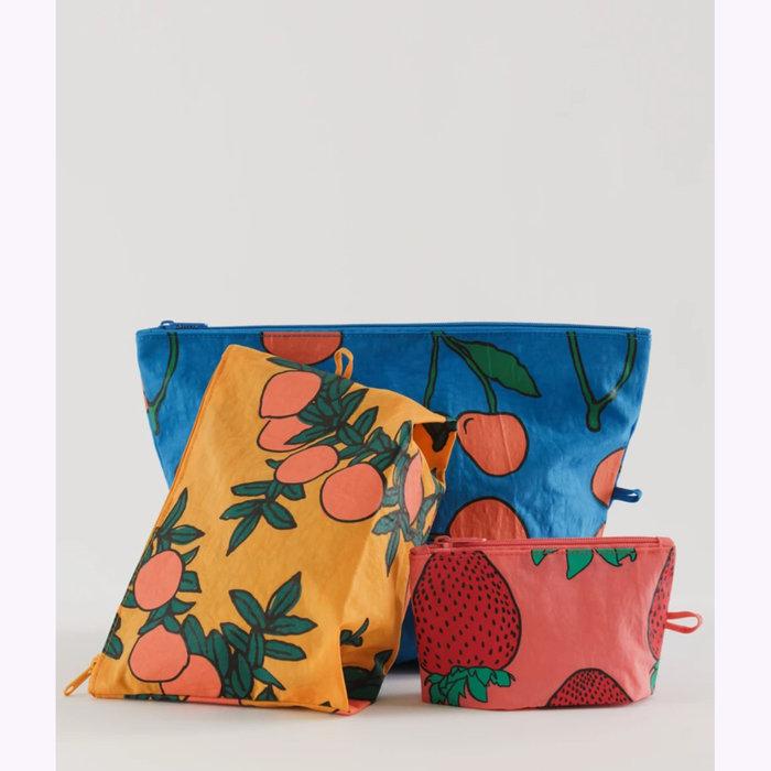Baggu pochette Baggu Backyard Fruits Pouch S (Strawberry)