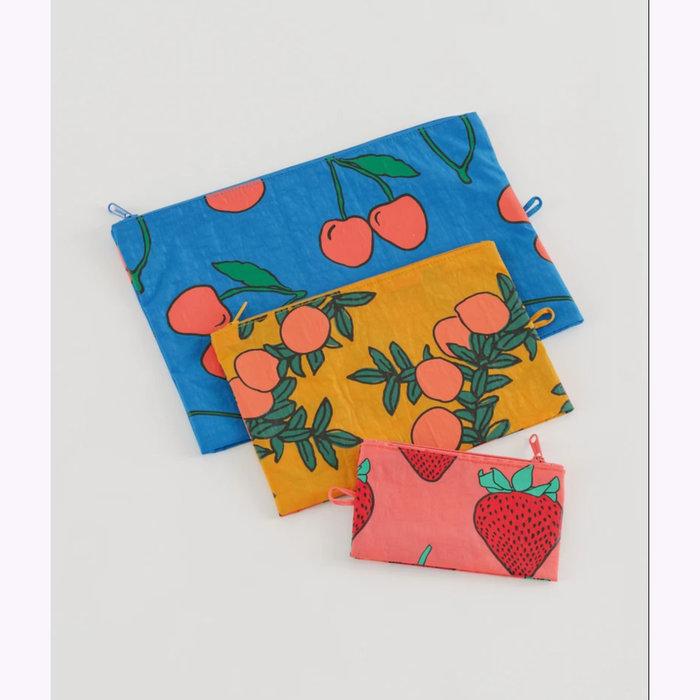 Baggu pochette Baggu Backyard Fruits Pouch L  (Cherries)