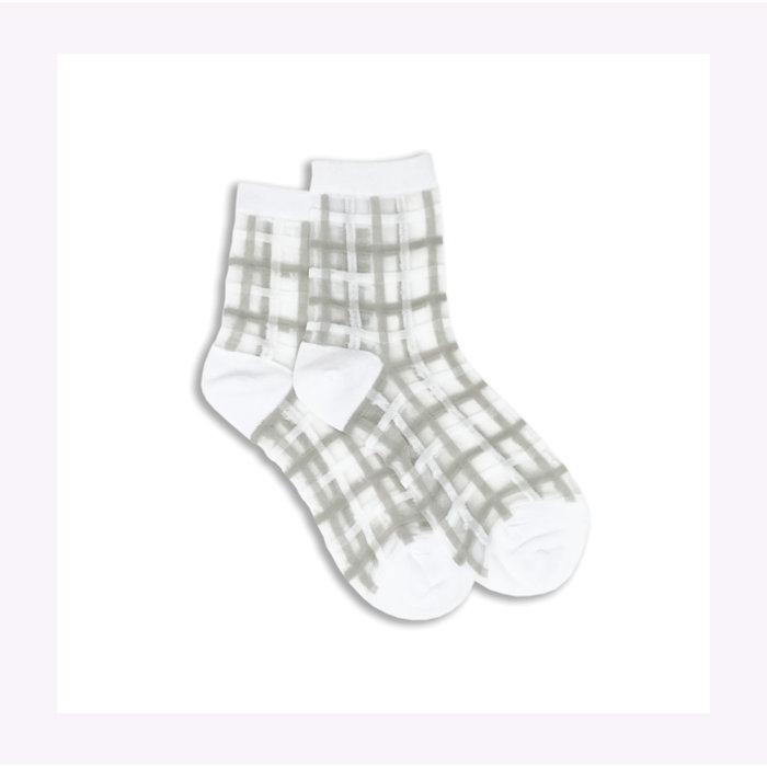 Chaussettes transparentes à carreaux XS Unified