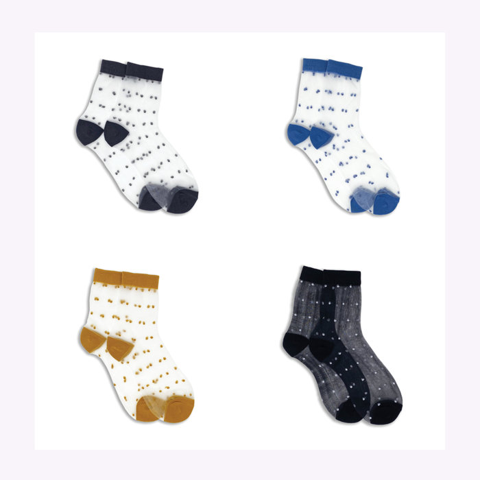 XS Unified XS Unified Sheer Dots Ankle Socks