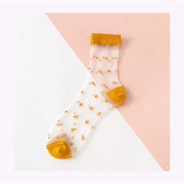 Chaussettes transparentes à pois XS Unified