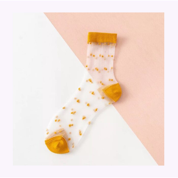 XS Unified Sheer Dots Ankle Socks
