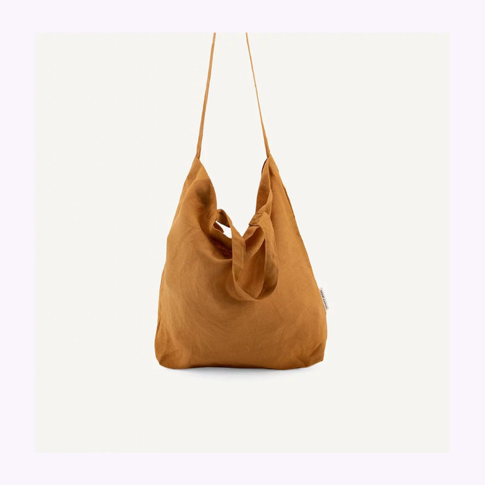 Monk & Anna Sac fourre-tout Baya en lin Honey Monk & Anna
