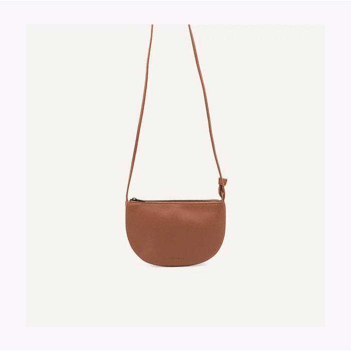 Monk & Anna Half Moon Chestnut Farou Handbag