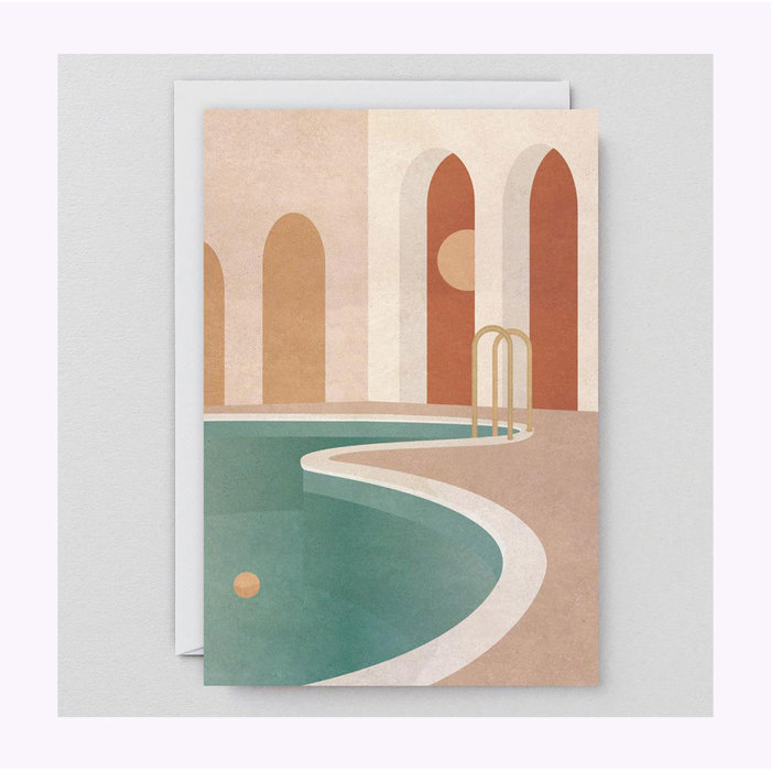 Wrap Pool With Arches Card